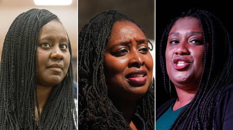 (L) Marsha de Cordova © Global Look Press / Mark Thomas (C) Dawn Butler © AFP / ISABEL INFANTES (R) Bell Ribeiro-Addy © Getty Images / Hollie Adams