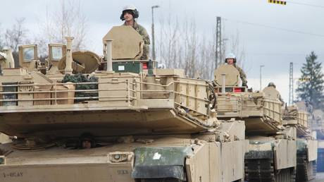 Elements of 2nd Armored Brigade Combat Team, 1st Cavalry Division, convoy to the Hohenfels Training Area for Combined Resolve XIII on Jan. 18, 2020. © Global Look Press/Sgt. Megan Zander/Keystone Press Agency