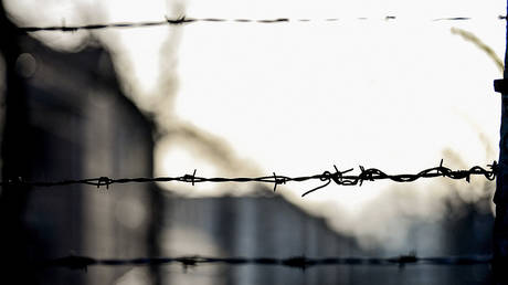 FILE PHOTO. Barbed wire fence of the Auschwitz death camp. © Global Look Press / dpa / Britta Pedersen