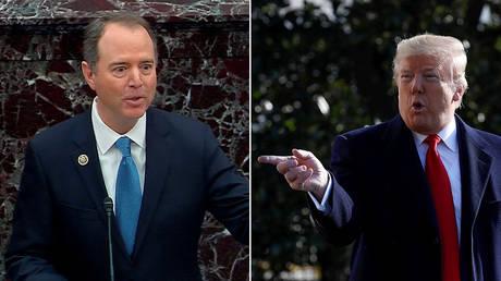 Adam Schiff and Donald Trump © Reuters / US Senate TV and Yuri Gripas