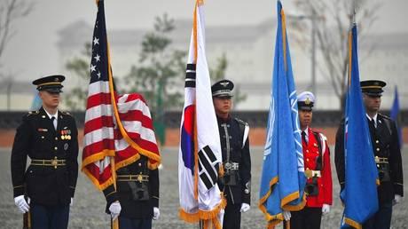 US troops at Camp Humphreys in Pyeongtaek, South Korea. November 2018. © Jung Yeon-je / AFP