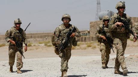 Leaving soon? US troops on patrol in Afghanistan (file photo)