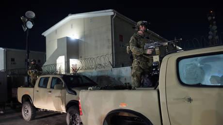 US troops at Bagram Air Field in Afghanistan. November 2019. © Olivier Douliery / AFP.