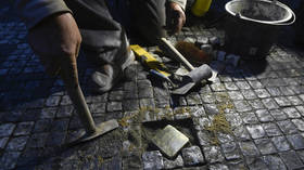 Cobblestones honoring Nazi victims dug up and THROWN AWAY at construction dump in Germany
