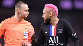 'Speak French… my a**!': Neymar in heated row with match officials after PSG star 'booked for showboating' (VIDEO)