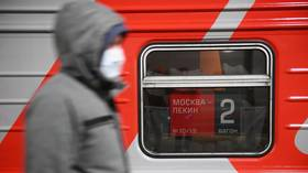 Russia to suspend ALL rail passenger services with China over coronavirus outbreak from Monday