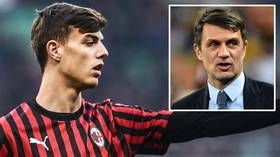 Like father, like son: Paolo Maldini's son Daniel makes his Serie A debut for AC Milan at San Siro (VIDEO)