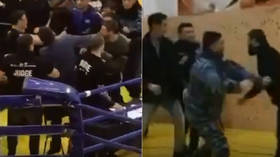 MMA madness: Mixed martial arts tournament in Kazakhstan ends with STABBING and huge brawl (VIDEO)