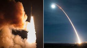 US Space Force conducts first ICBM launch after Moscow warned of threat of renewed arms race (PHOTOS)