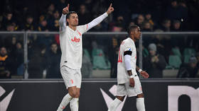 WATCH: Cristiano Ronaldo makes history by scoring in TENTH game in a row - but Juventus fall to shock defeat at Verona