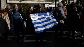 Residents from Greek islands protest in Athens against building new migrant camps