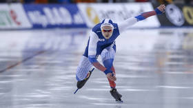 On the fast track: Russian speed skater Pavel Kulizhnikov earns World Championship sprint gold