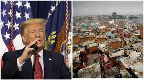 Hiding slums ahead of Trump visit portrays him as EMPEROR & shows Indians' 'SLAVE MENTALITY' – newspaper