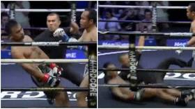WATCH: Quick-thinking referee uses incredible reflexes to save KO'd fighter from slamming head on canvas