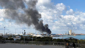 Libyan General Haftar's forces claim they've bombed Turkish ship 'loaded with weapons & ammo' at Tripoli port