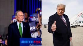 Trump laughs off 'Mini Mike' Bloomberg, says he'd rather run against him than Bernie Sanders