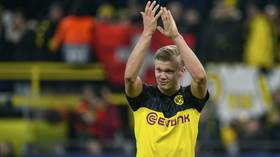 'What a brute of a player': Fans stunned by powerhouse Champions League display from Dortmund's teenage sensation Erling Haaland