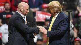 'He's a fighter': UFC boss Dana White hails Donald Trump at election rally and reveals presidential pair have become 'even closer'