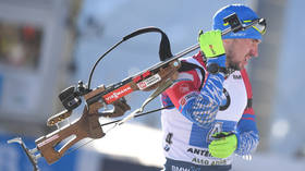 Russian biathlete Alexander Loginov pulls out of mass-start race after police raid scandal in Italy