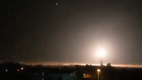 WATCH Damascus air defenses intercept incoming Israeli missiles