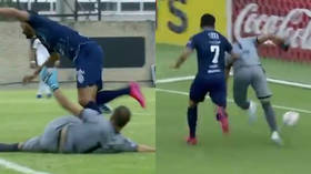 Blooper of the year! Calamitous Paraguayan goalkeeper goes viral as he dribbles ball into own goal (VIDEO)
