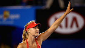 'It's lit!' Maria Sharapova shows fans how she keeps herself in shape by filming a 'sweat sesh' inside her Florida home (VIDEO)