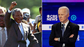 Pants on fire! Joe Biden's campaign says he was never 'arrested' trying to visit Nelson Mandela