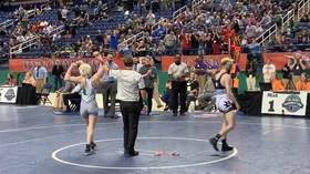 Battle of the sexes: Teenage girl outlasts boys to claim state wrestling championship (VIDEO)