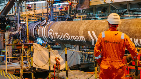FILE PHOTO: Completion of offshore construction of TurkStream © TurkStream