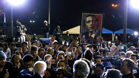 Joe Biden speaks at his Super Tuesday night rally in Los Angeles ©  Reuters / ELIZABETH FRANTZ