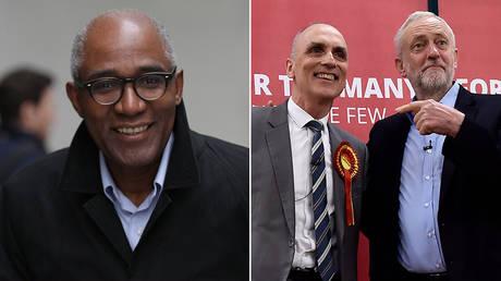 (L) Trevor Phillips © Getty Images / GC Images / Simon James (R) Former Labour MP Chris Williamson and Jeremy Corbyn © Reuters / Hannah McKay