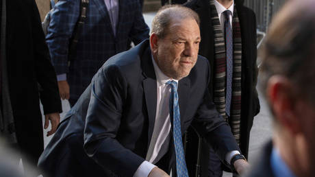 File photo: Harvey Weinstein arrives at New York Criminal Court © REUTERS/Lucas Jackson