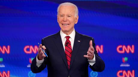 Joe Biden at 11th Democratic 2020 presidential debate in Washington