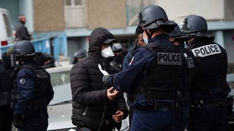 Anti-drug operation in the Cite des Oliviers, a northern neighbourhood of Marseille, March 25, 2020