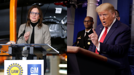 GM CEO Mary Barra and President Donald Trump © Reuters / Rebecca Cook and Yuri Gripas