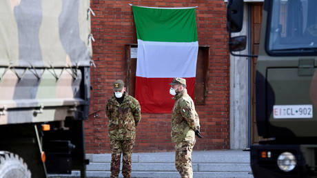 Soldiers in Seriate, Italy March 28, 2020. © Reuters / Flavio Lo Scalzo