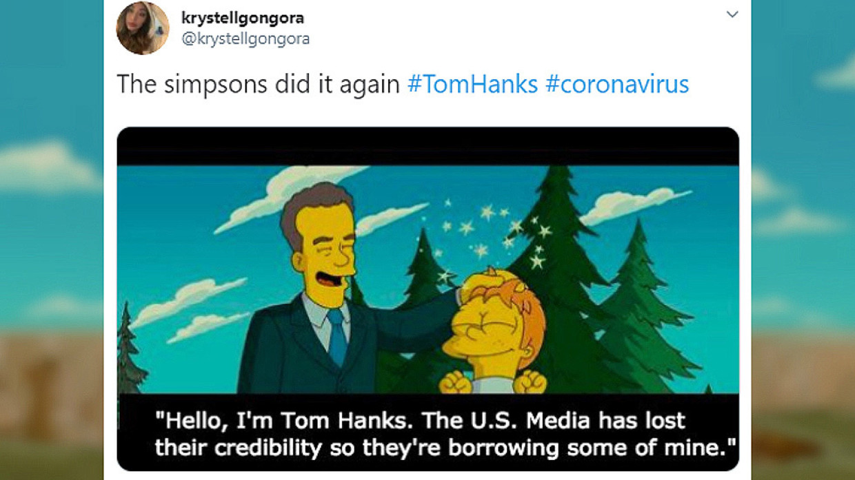 Leave Me Be Did The Simpsons Really Predict Tom Hanks Would Get