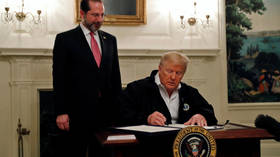 'People spend money and stay home now, I LIKE that': Trump finds coronavirus silver lining as he signs $8.3bn aid bill