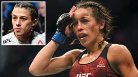 'She does not even look the same!' UFC commentators left stunned as Joanna Jedrzejczyk suffers MASSIVE hematoma at UFC 248 (VIDEO)