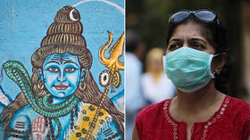 Leading by example: Indian deities don masks to 'spread awareness' about coronavirus (PHOTO)