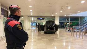 Two arrested after botched 'Islamist attack' sees car driven into Barcelona airport (PHOTOS)