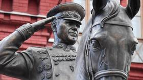 New statue of WWII hero Marshal Zhukov near Red Square stuns Muscovites, but officials say it's temporary