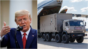 'Happily surprised'? Trump says Russia sent US 'very, very large' aid package to combat Covid-19