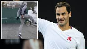 'Making sure I still know how to hit trick shots': Swiss ace Roger Federer making the most of his time in lockdown (VIDEO)