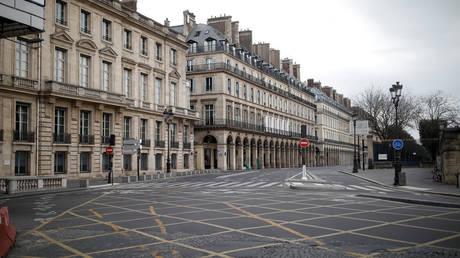 The empty Rivoli street in Paris, March 22, 2020. © Reuters / Benoit Tessier