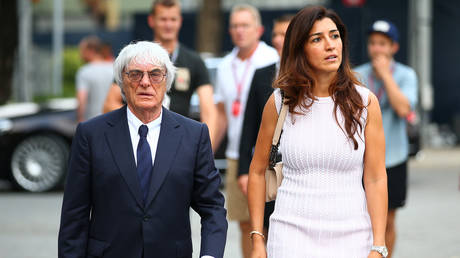 Ecclestone and wife Flosi pictured in 2014. © Getty Images