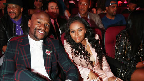 Floyd and Iyanna Mayweather in 2017. © Getty Images