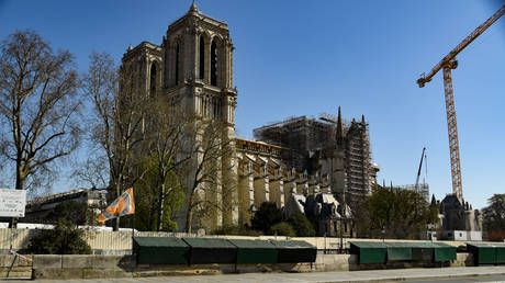FILE PHOTO: The Notre-Dame de Paris cathedral on on March 25. © AFP / Bertrand Guay