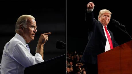 Former US Vice-President Joe Biden (L) and President Donald Trump (R) © Reuters / Charles Mostoller; Reuters / Shannon Stapleton
