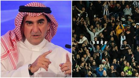Incoming Newcastle chairman Yasir Al-Rumayyan and the club's fans.